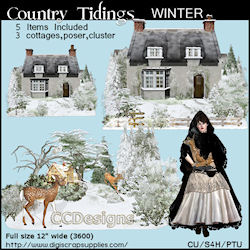 Winter tidings clusters & poser