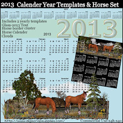 2013 year templates bonus horse set included