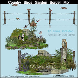 Garden border bird mix