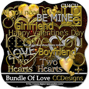 Valentine gold and silver tubes cu4cu