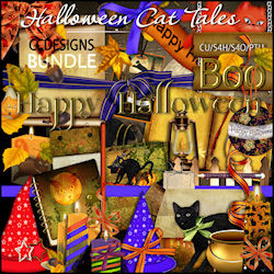 Halloween cat tales elements