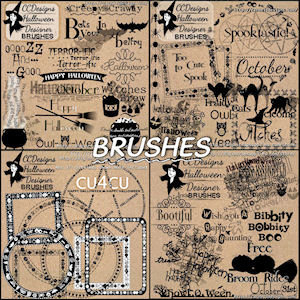 Halloween designer brushes available seperate psp-ps