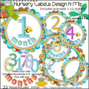 Nursery labels Design n Mix