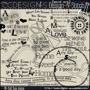 Design stitch word art