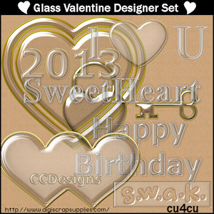 Glass designer set