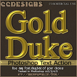 Gold duke photoshop text action