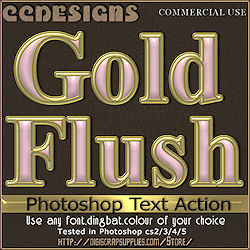 Gold flush photoshop text action