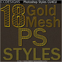 Photoshop gold mesh styles