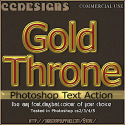 Gold throne photoshop text action
