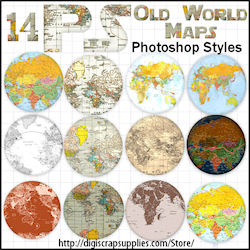 Old world map ps styles