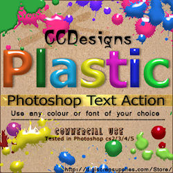 plastic text photoshop text action