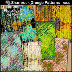 Shamrock grunge patterns