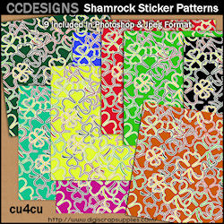 Shamrock sticker patterns