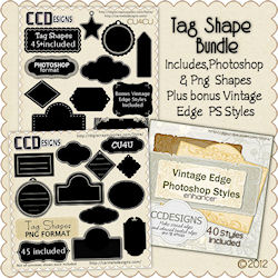 Tag shape bundle New Bonus Styles