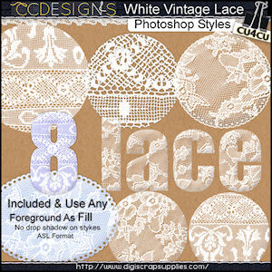 white vintage lace ps styles