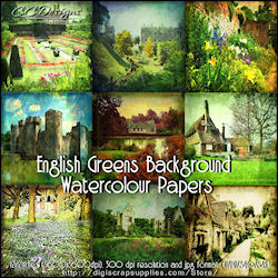 English greens background papers 99cents