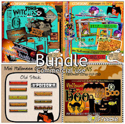 Halloween Bundle Old stock & freebies Bundle 99cents