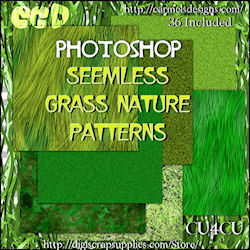 Grass nature patters photoshop format