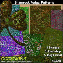 Shamrock fudge patterns