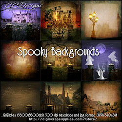 Spooky background papers cu4cu 99cents