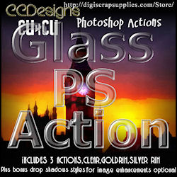 Photoshop glass action