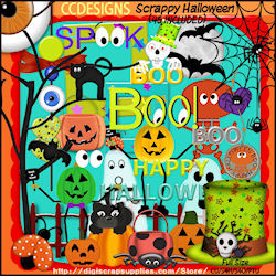 Scrappy Halloween Elements