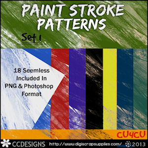 Paint strokes patterns styles set 1