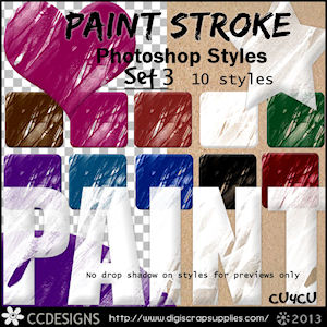 Paint strokes patterns styles set 3