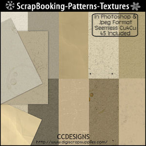 Scrap booking patterns textures